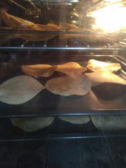 Baked tortillas to make homemade toast
