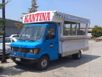 """A """"Foodtruck"""" is curiously known as a """"kantina"""" in Greece."""